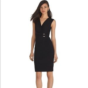 WHBM V-NECK BLACK INSTANTLY SLIMMING DRESS